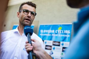 Slovenian cycling team press conference